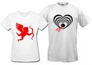 Парные футболки Амур-стреляющий-в-сердце