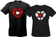 Парные футболки Сердце-пазлы