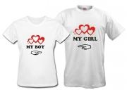 Парные футболки Мой мальчик - Моя девочка