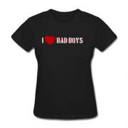 Женская Футболка I Love BAD Boys