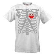 Футболка Скилет с сердцем