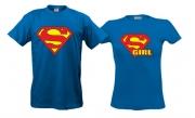 Парные футболки Superman & supergirl