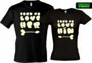 Парные футболки Born to love (Glow)