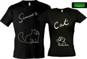Парные футболки Simons Cat (Glow)