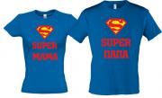 """Футболки для папы и мамы.""""Супер папа""""- """"Супер мама"""""""