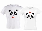 """Парные футболки """"Мордашки Панды"""""""