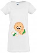 Футболка для беременных Малыш с пустышкой