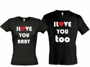 Парные футболки I love you baby 2