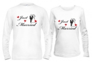 Кофты для новобрачных Just married