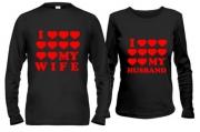 Кофты с сердцами I love my wife/husb.