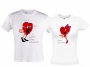 """Парные футболки """"Спор двух сердец"""""""
