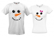 Две футболки Два снеговичка