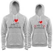 Толстовки I love my boyfriend/girlfriend