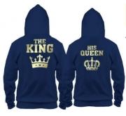 Парные толстовки The king-his queen