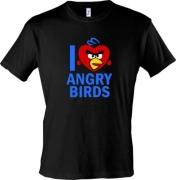 Майка I love Angry Birds