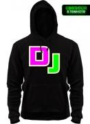 Балахон DJ (яркими буквами)