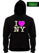 Балахон I Love NY (Glow)