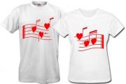 Пара футболок Мелодия-любви