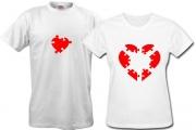 2 футболки для пары пазлы-любви