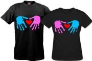 Майки для влюбленных Сердце-в-руках