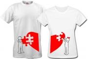 Парные футболки Сердце-с-пазлом