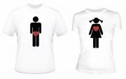 Парные футболки М-Ж
