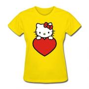 Женская Футболка Kitty с сердечком