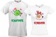 Парные футболки Angry Birds Амурчик
