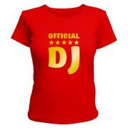Майка для девушки Official DJ