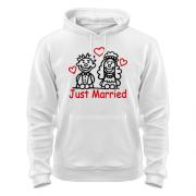 Толстовка Just married (Молодожены)