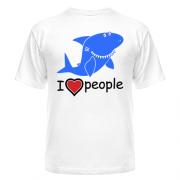 футболка Акула. I love people