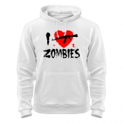 Толстовка I love zombies