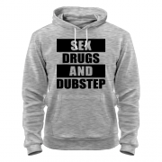 Толстовка Sex drugs and dubstep