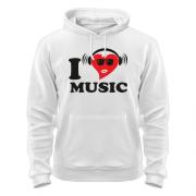 Толстовка Я люблю слушать музыку