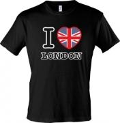 футболка I love London с флагом
