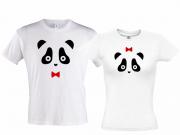 Комплект маек Панда мальчик Панда девочка