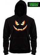 Толстовка Bold Pumpkin Face (glow)