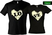 Парные футболки Love 2 (Glow)