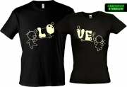 Парные футболки Love 3 (Glow)