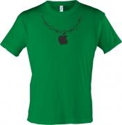 Футболка Apple на шее