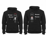 Толстовки парные Скилеты dance