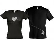 Парные футболки Сердце воздушный змей