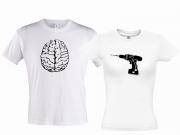 Парные футболки Дрель и мозг