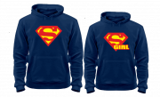 Толстовки Superman и Supergirl