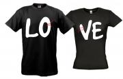 Парные футболки Love с нитками