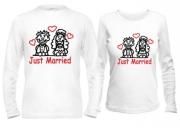 Парные кофты для новобрачных Just married