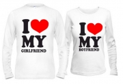 Парные кофты I love my boyfriend - girlfriend