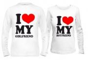 Парные кофты I love my boyfriend - girlfriend