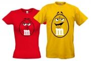 Футболки для влюбленных M&M`s