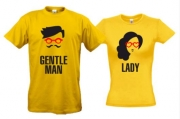 Парные футболки Леди и Джентльмен